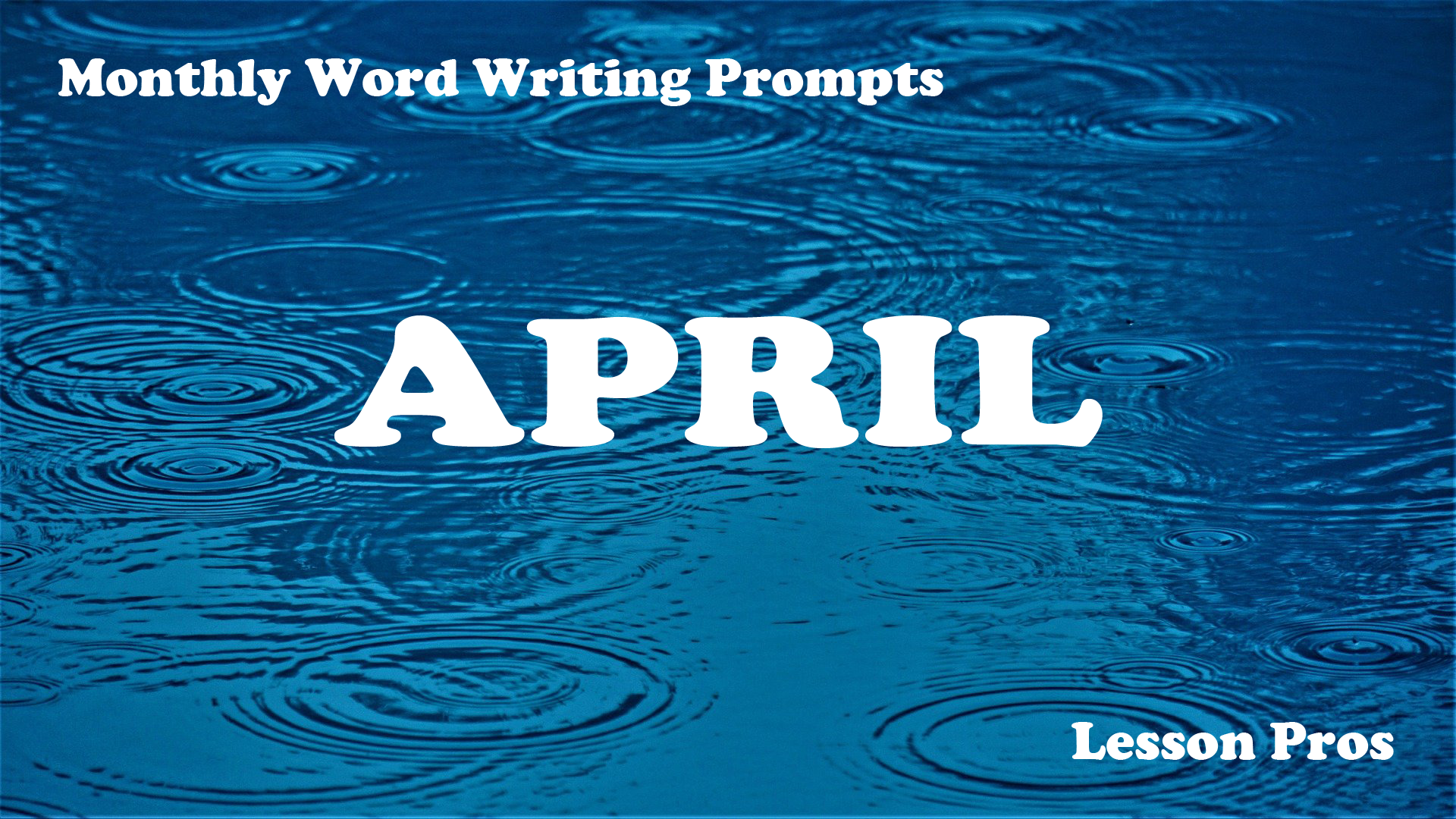 Writing Prompts - April Lesson Pros