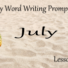 Word Writing Prompts - Lesson Pros July