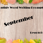 September Writing Prompt
